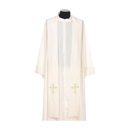 Estola sacerdotal bordado simples ambos lados tecido Vatican 4