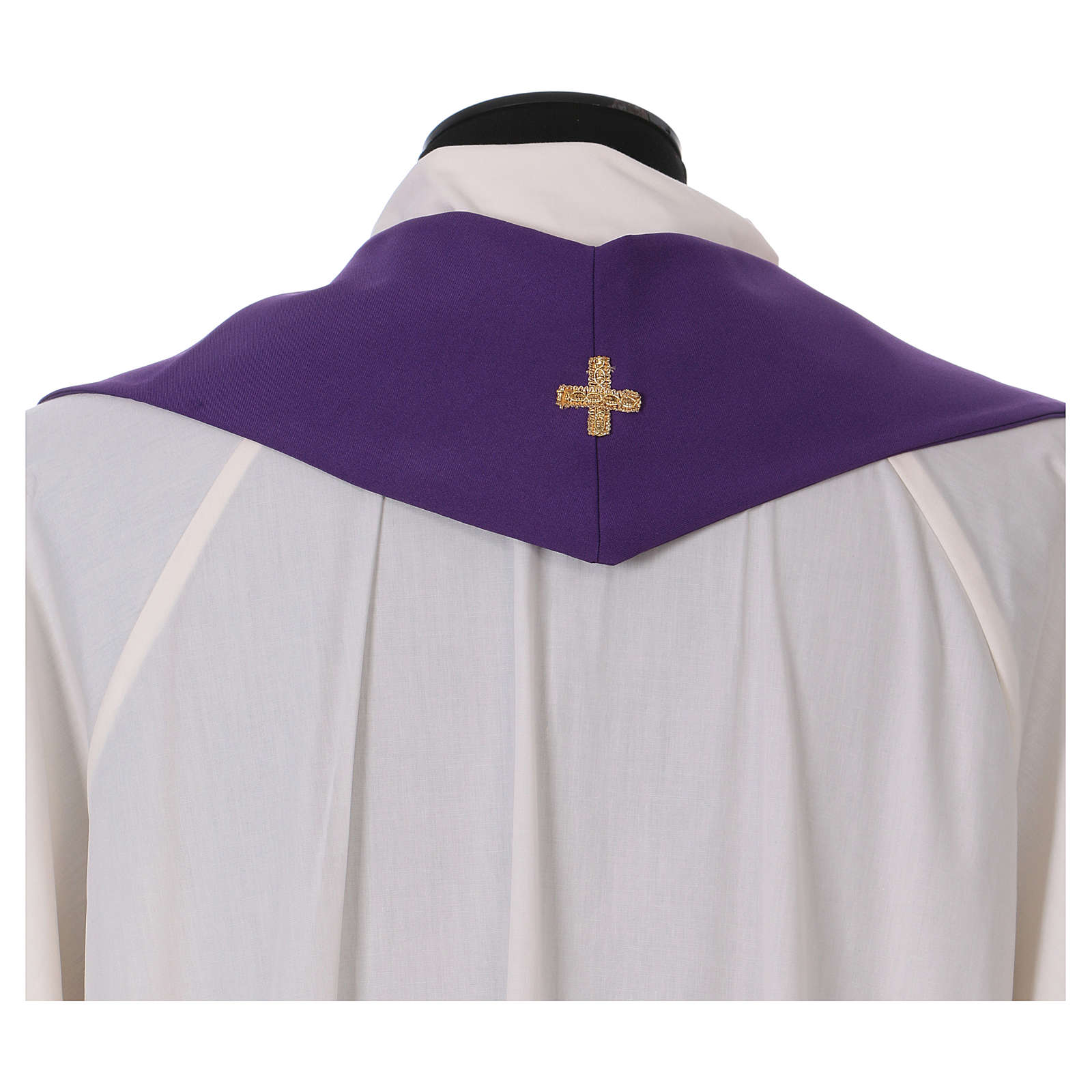 Stuła haft kielich winogron kłosy złoty i srebrny dwustronny Vatican 4