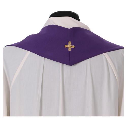 Stuła haft kielich winogron kłosy złoty i srebrny dwustronny Vatican 3
