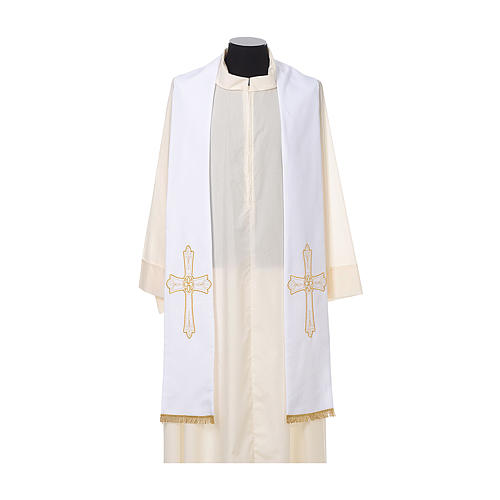 Clergy Stole with golden Cross embroidery 100% polyester 5