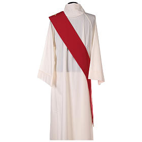 Double-sided Deacon Stole Cross JHS embroidery, Vatican polyester s4