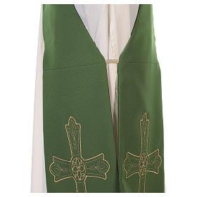 Stola diacono tessuto Vatican croce fiore fronte retro s9