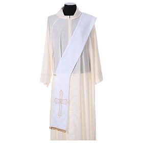 Stola diacono tessuto Vatican croce fiore fronte retro s1