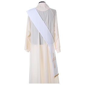 Stola diacono tessuto Vatican croce fiore fronte retro s4