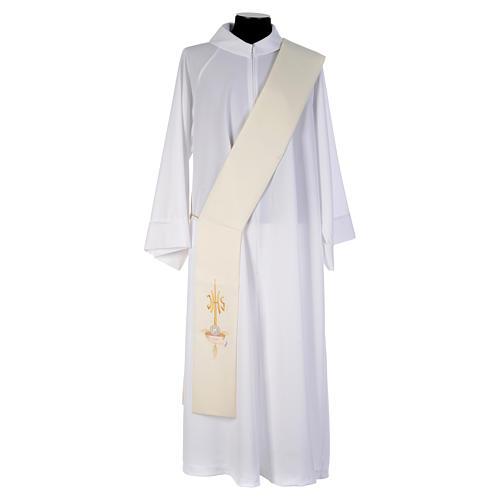 Diacon stole hands paten host and dove, JHS symbol 1