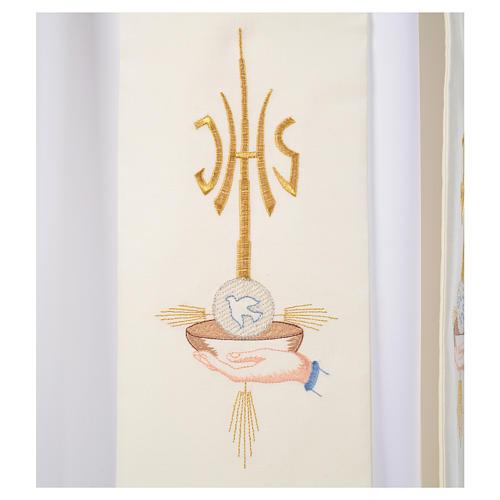Stola diaconale mani patena ostia colomba JHS 3