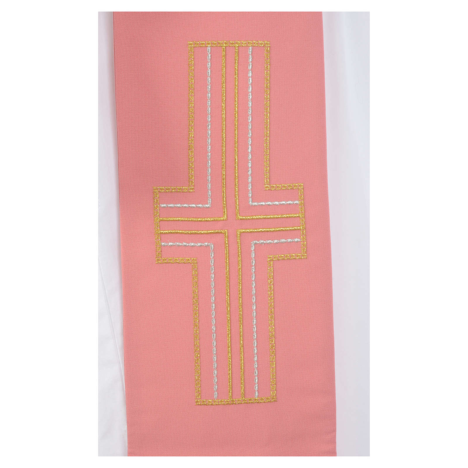 Diakonstola rosa Polyester Alpha und Omega 4