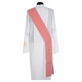 Diakonstola rosa Polyester Alpha und Omega s2