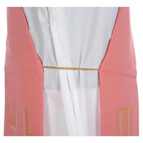 Diakonstola rosa Polyester Alpha und Omega 5