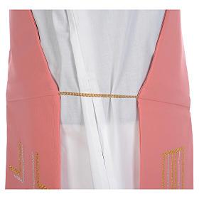 Estola diaconal cor-de-rosa 100% poliéster alfa e ómega s5