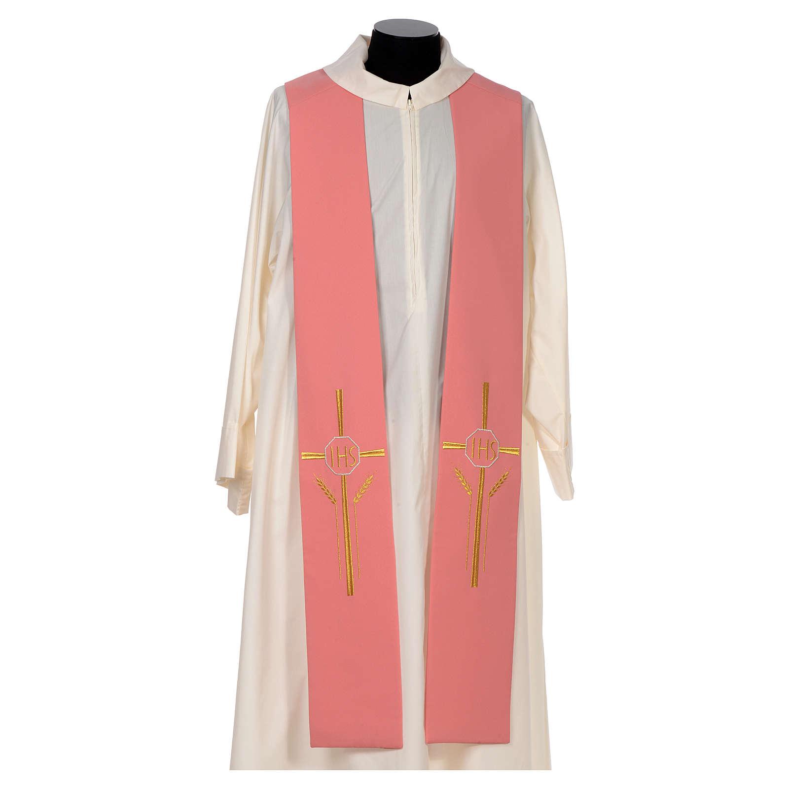 Estolão cor-de-rosa 100% poliéster IHS cruz trigo 4