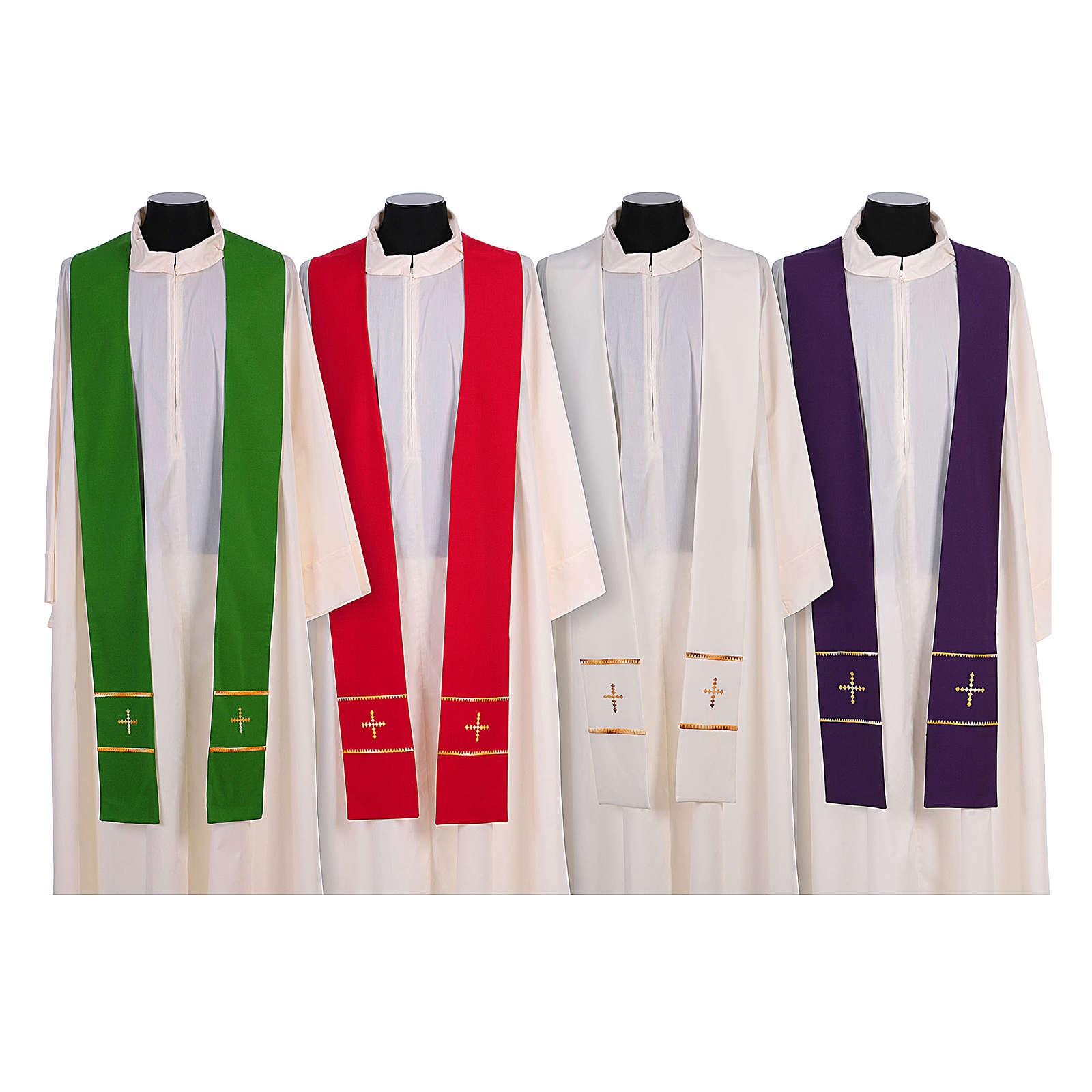 Stola ricamata a mano pura lana 4 colori - Monastero Montesole 4