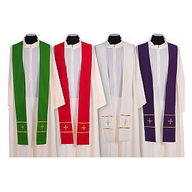 Stola ricamata a mano pura lana 4 colori - Monastero Montesole s1
