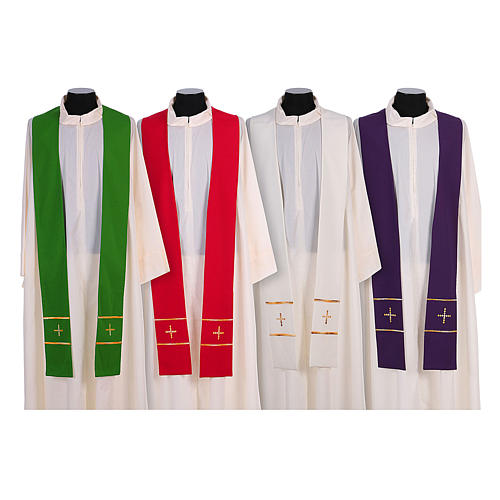 Stola ricamata a mano pura lana 4 colori - Monastero Montesole 1