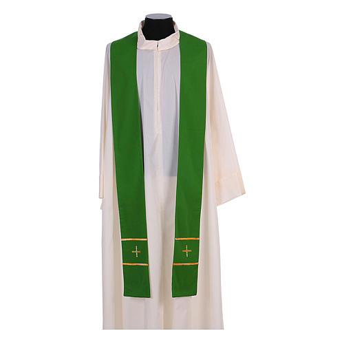 Stola ricamata a mano pura lana 4 colori - Monastero Montesole 2