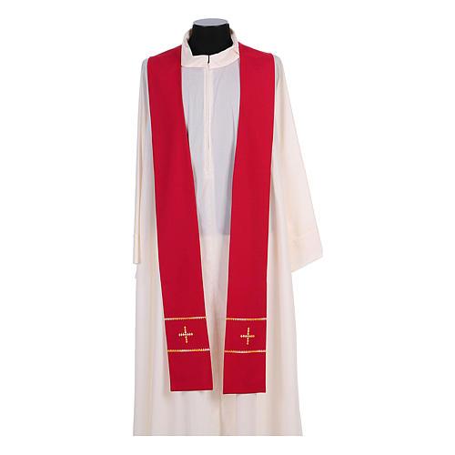 Stola ricamata a mano pura lana 4 colori - Monastero Montesole 3