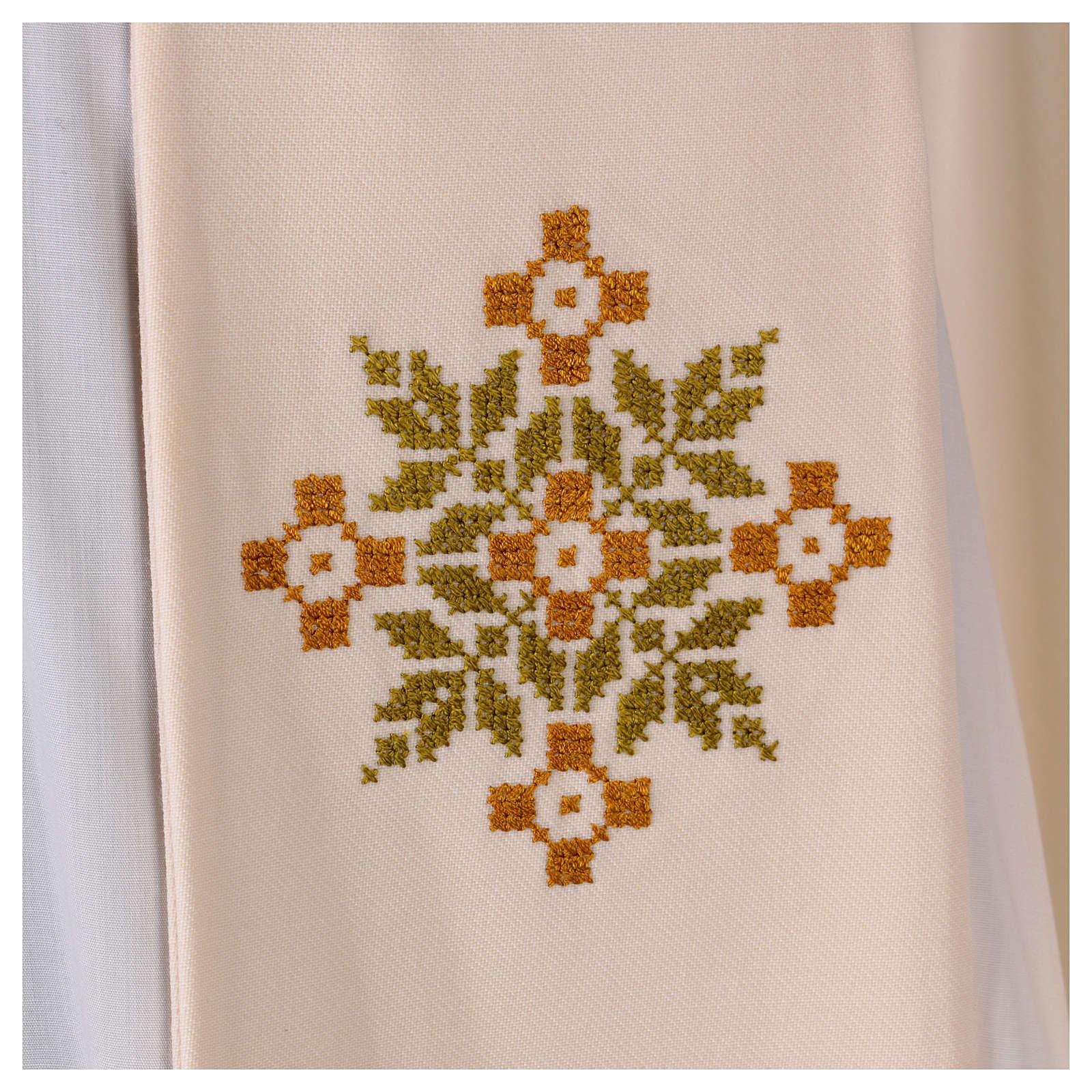 Stola sacerdotale in lana ricamo a mano Monastero Montesole 4