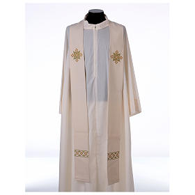 Stola sacerdotale in lana ricamo a mano Monastero Montesole s1