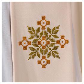 Stola sacerdotale in lana ricamo a mano Monastero Montesole s2