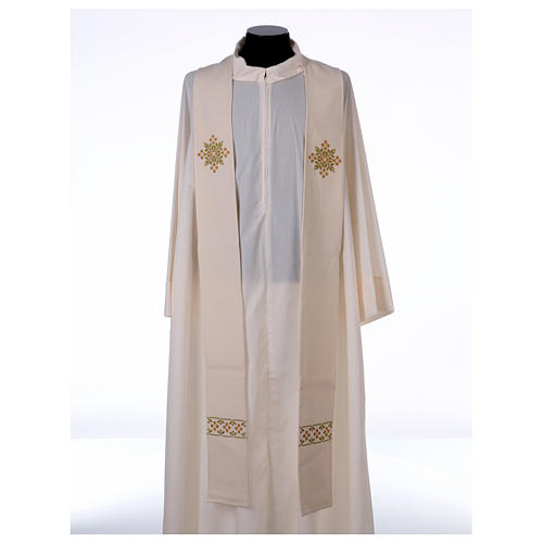 Stola sacerdotale in lana ricamo a mano Monastero Montesole 1