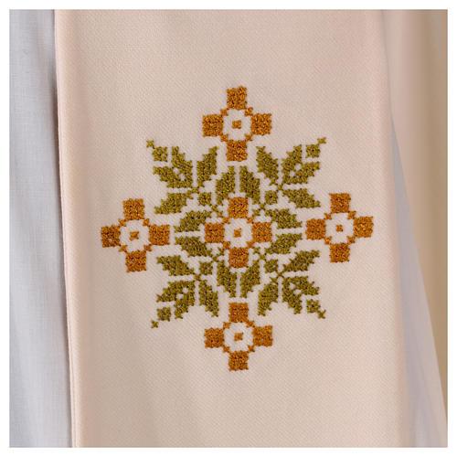 Stola sacerdotale in lana ricamo a mano Monastero Montesole 2