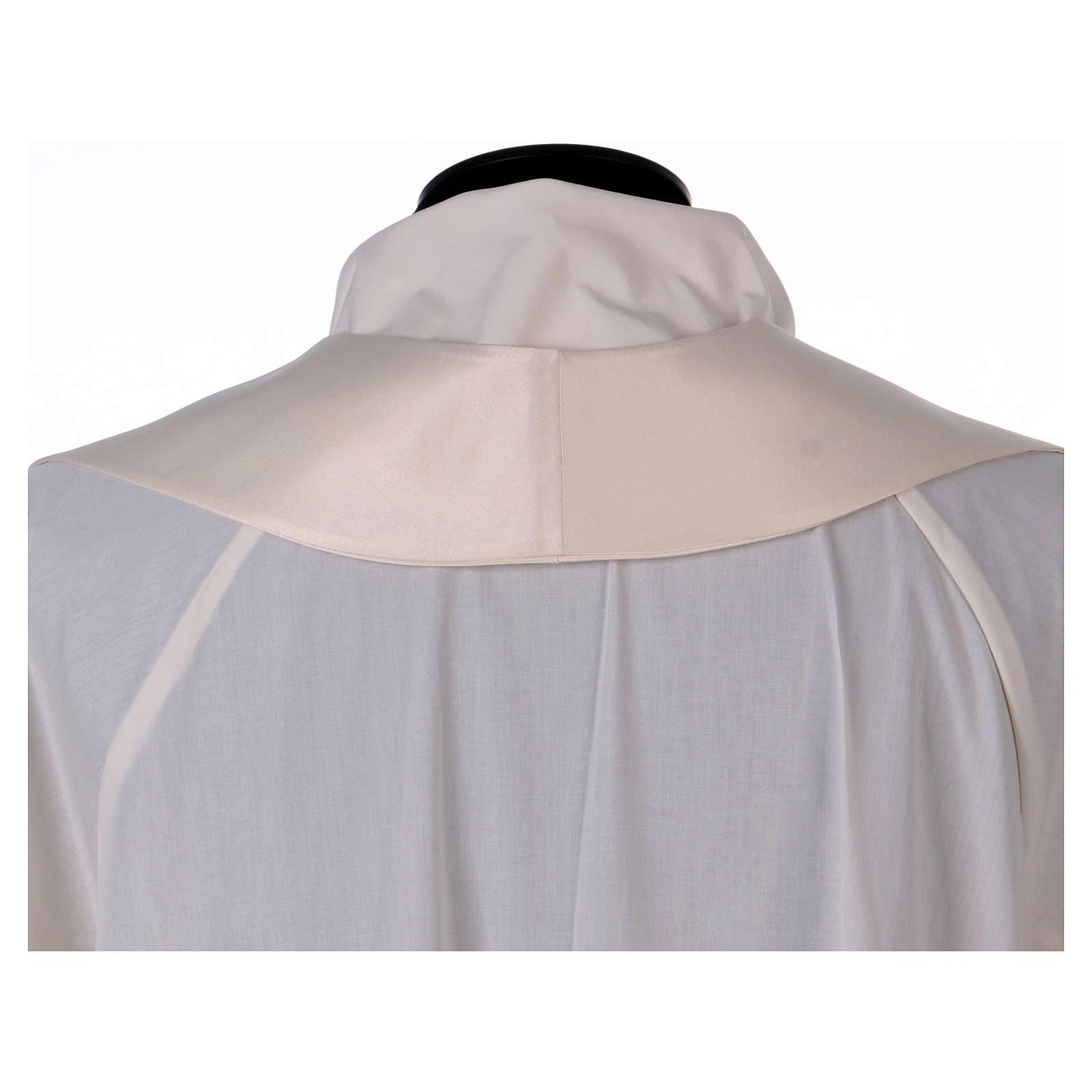 Stola sacerdotale ricamo a mano misto seta Monastero Montesole 4