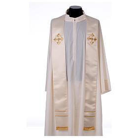 Stola sacerdotale ricamo a mano misto seta Monastero Montesole s1
