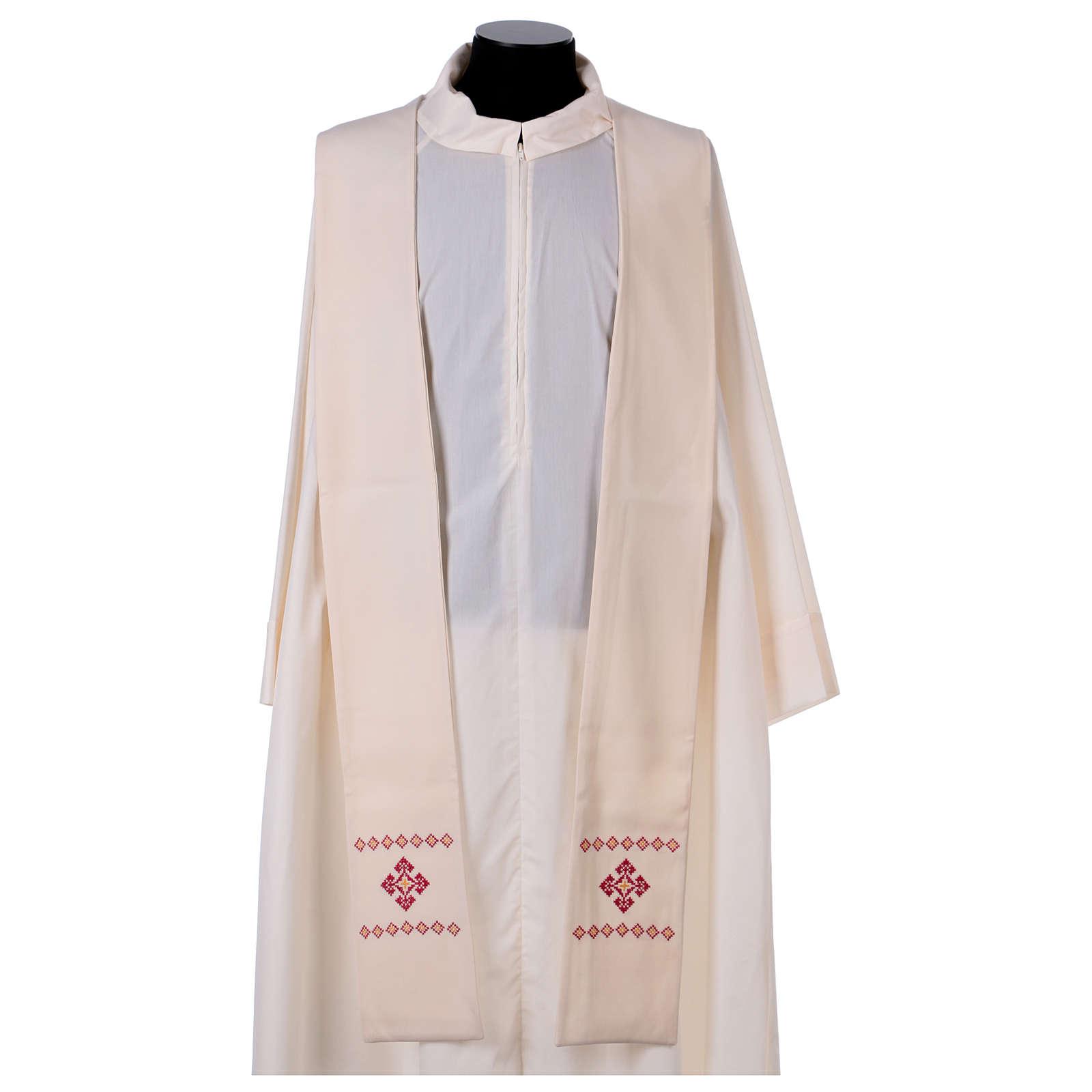 Stola sacerdotale in lana ricamata a mano Monastero Montesole 4