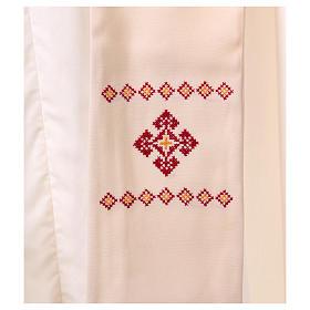 Stola sacerdotale in lana ricamata a mano Monastero Montesole s2