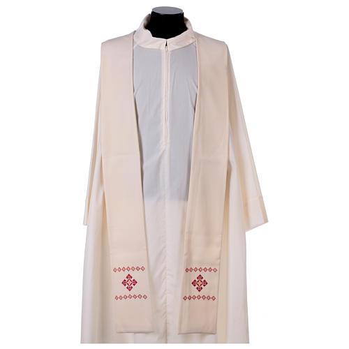 Stola sacerdotale in lana ricamata a mano Monastero Montesole 1