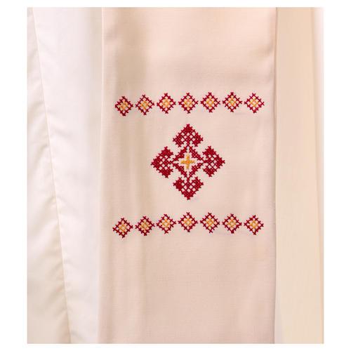 Stola sacerdotale in lana ricamata a mano Monastero Montesole 2