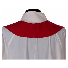 Stola in lana ricamata a mano rosso - Monastero Montesole s4
