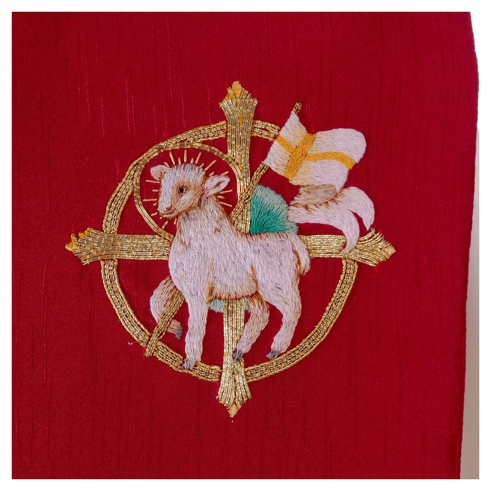 Stola misto seta ricamata a mano Monastero Montesole 4