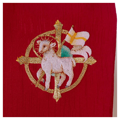 Stola misto seta ricamata a mano Monastero Montesole 2