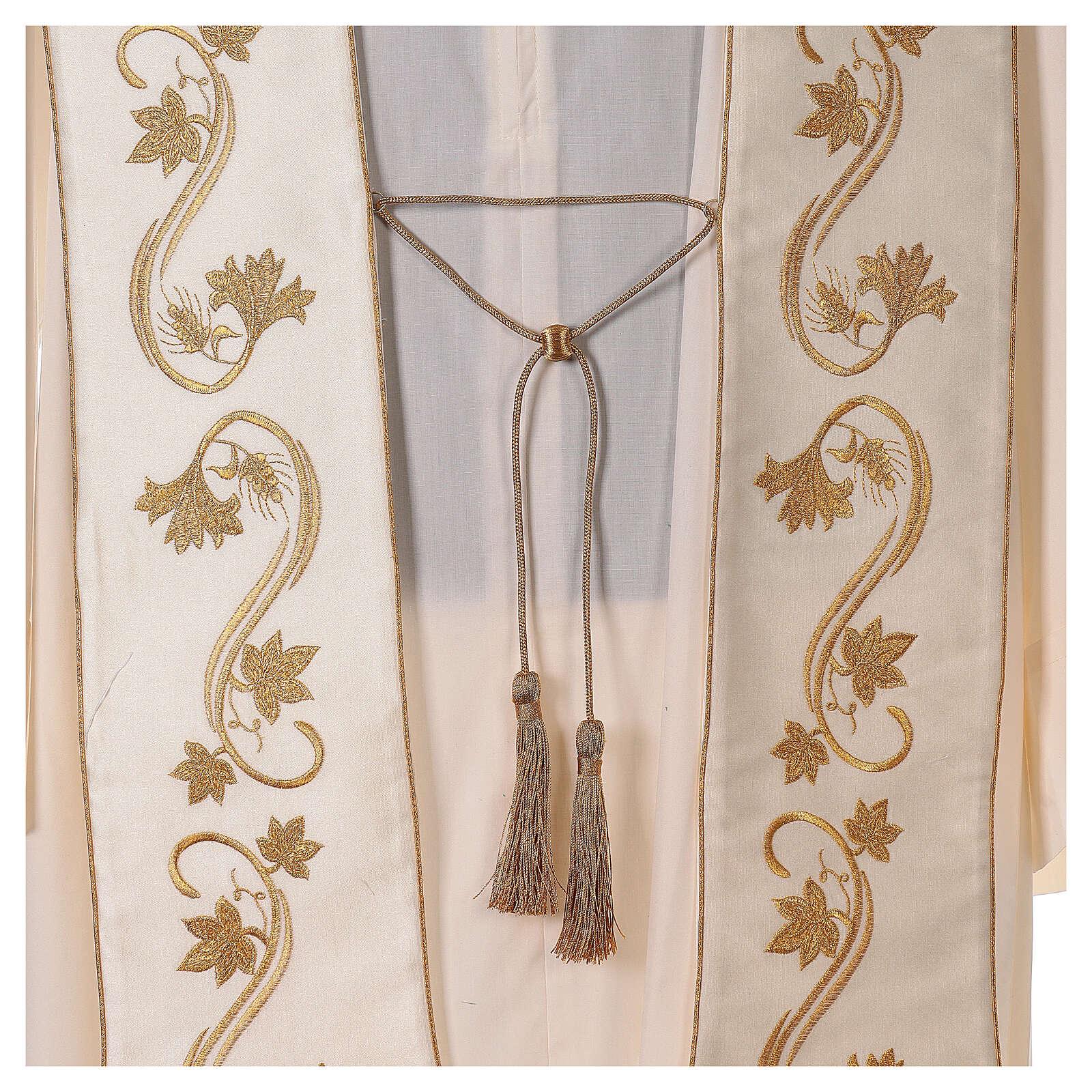 Römische Stola goldenen Stickerei 4