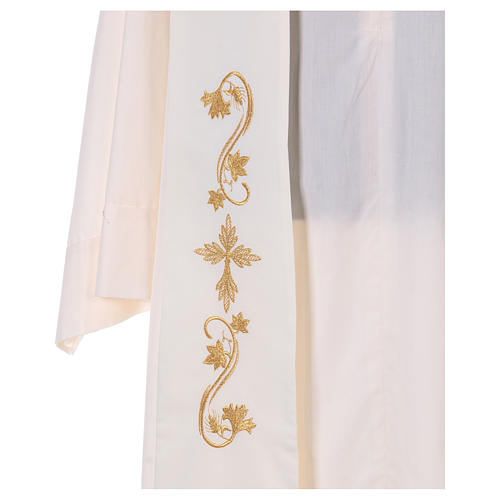 Étole prêtre tissu Vatican 2