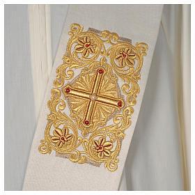 Stola Diaconale Limited Edition pietre avorio lavorato oro s2
