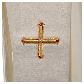Stola Diaconale Limited Edition pietre avorio lavorato oro s3