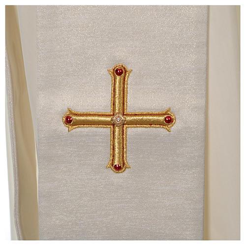 Stola Diaconale Limited Edition pietre avorio lavorato oro 3