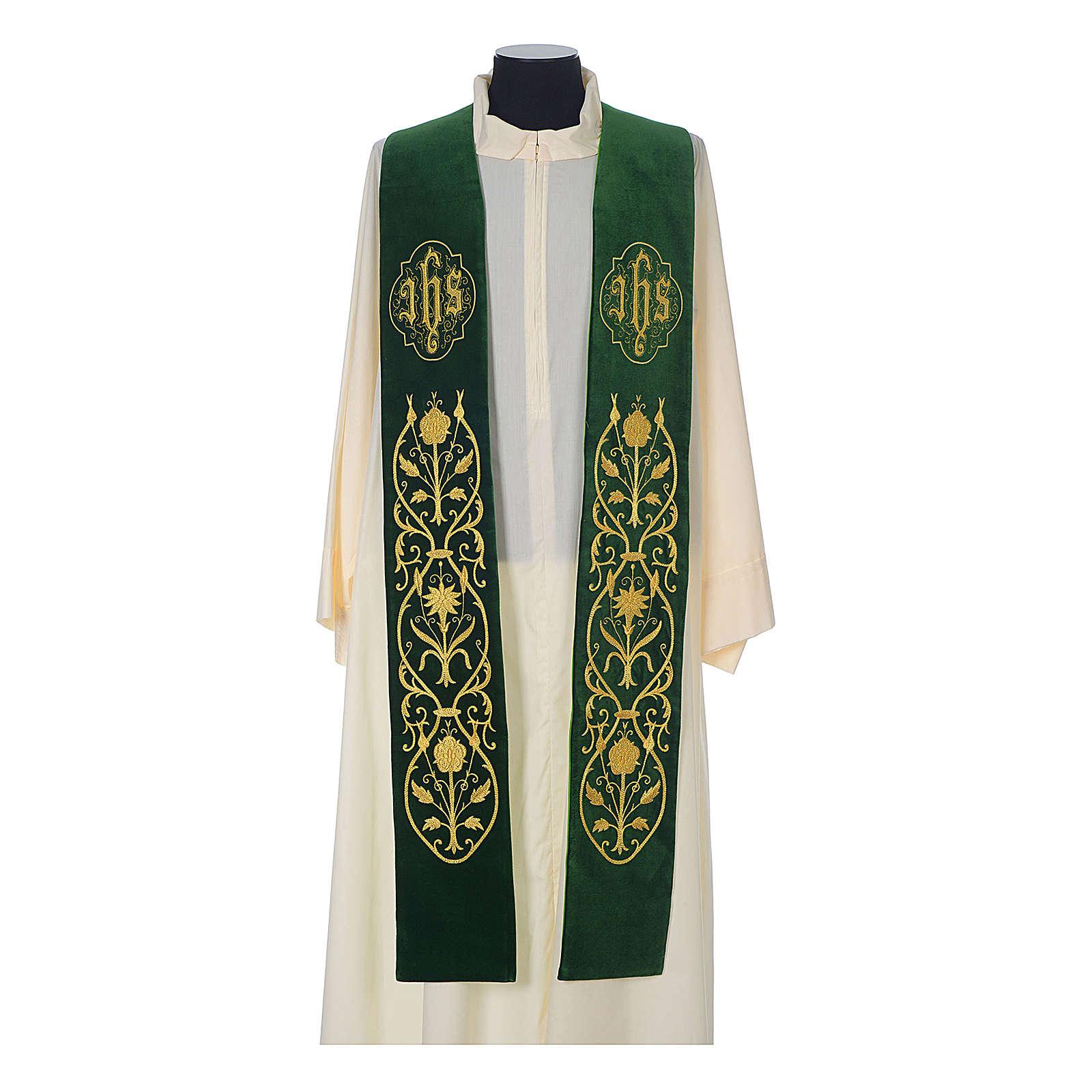 IHS velvet priest stole 4
