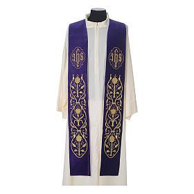 IHS velvet priest stole s5