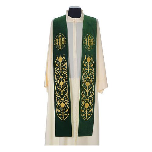 IHS velvet priest stole 2