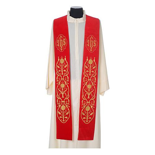IHS velvet priest stole 3
