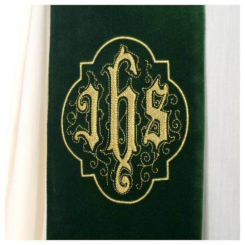 IHS velvet priest stole 6