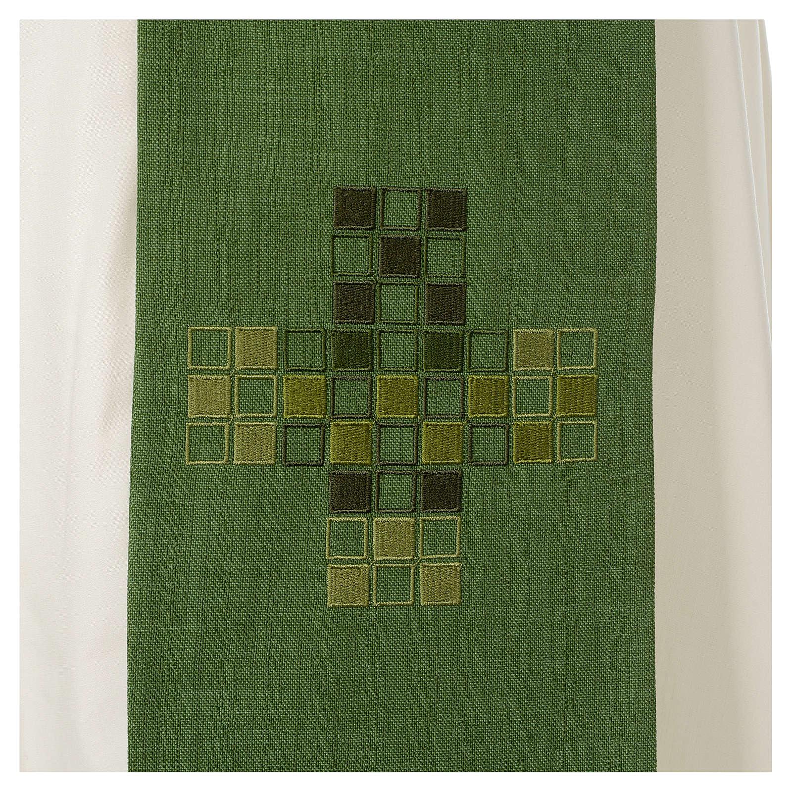 Étole Croix carrés moderne 4