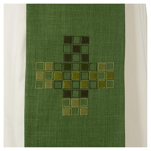 Étole Croix carrés moderne 6