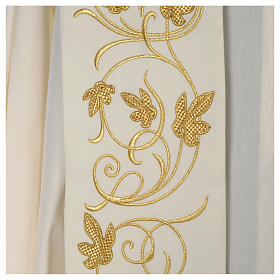IHS wool stole with gold motif embroidery s6