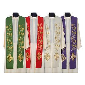 Étoles liturgiques: Étole 100% laine IHS et broderies