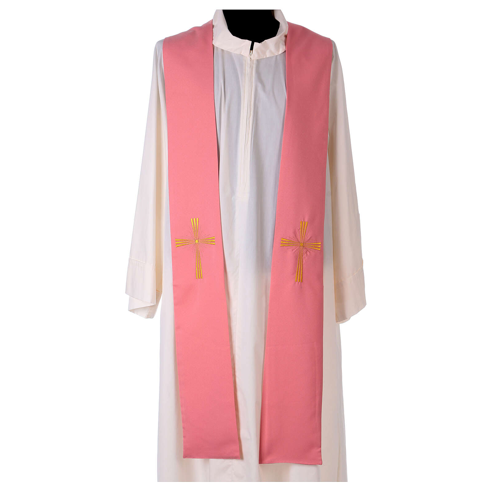 Stole machine embroidered with cross 100% polyester 4