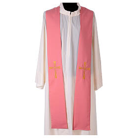 Stole machine embroidered with cross 100% polyester s1